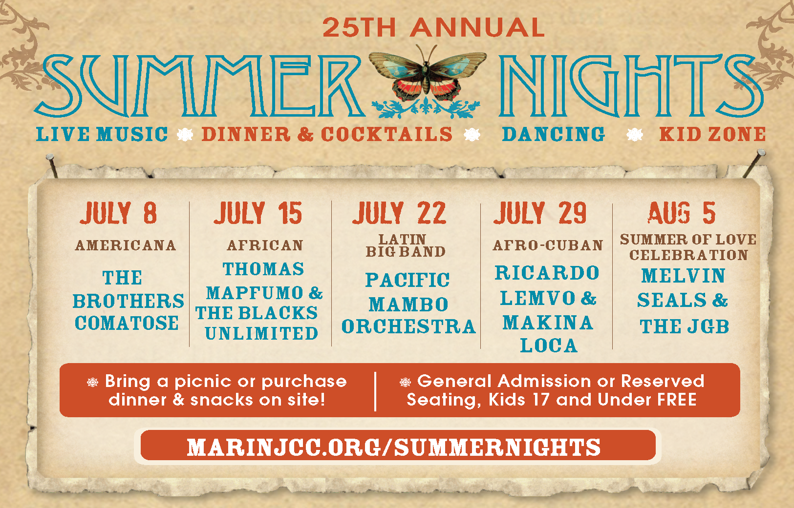 25th Annual Summer Nights Outdoor Music Festival